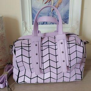 Pink Geometric Shoulder /Hand Bag